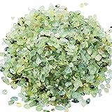 Zungtin 450g Prehnite polished Chips Stone,Crushed Crystal Quartz Pieces,Irregular Shaped Stones