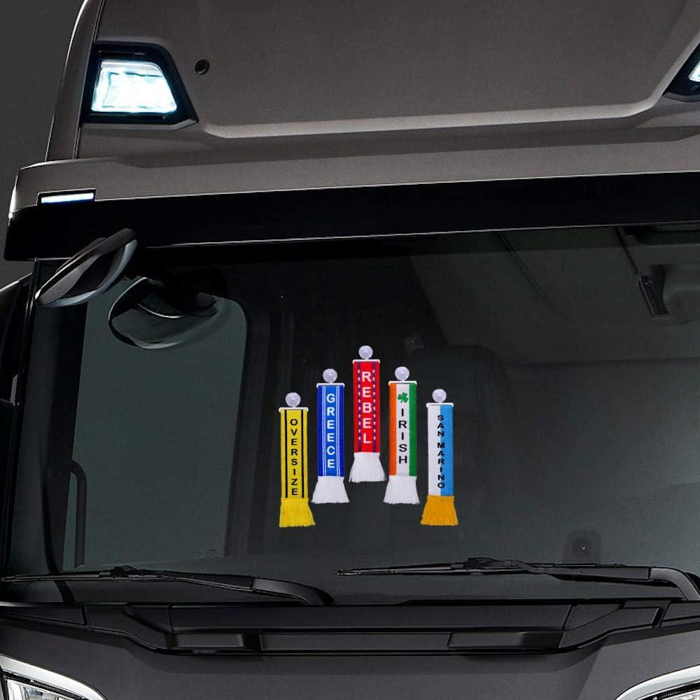 TRUCK DUCK/® Truck Car Mini Scarf Convoy Trucker Mini Scarf Flag Suction Cup Mirror Decoration