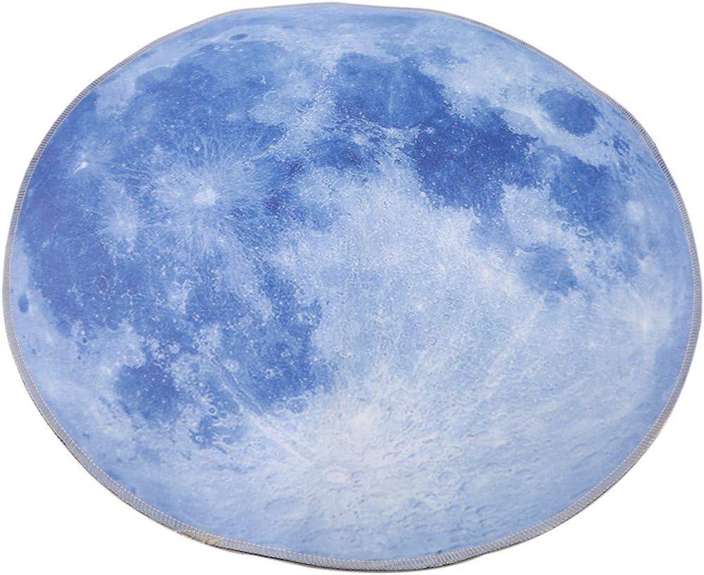As Description Polypropyl/ène Moon JOOFFF Planet Tapis Soft Fluffy 3D Impression Earth Planet Round Tapis antid/érapant Lot de Tapis de Chaise de Bureau Chambre denfant Home Decor