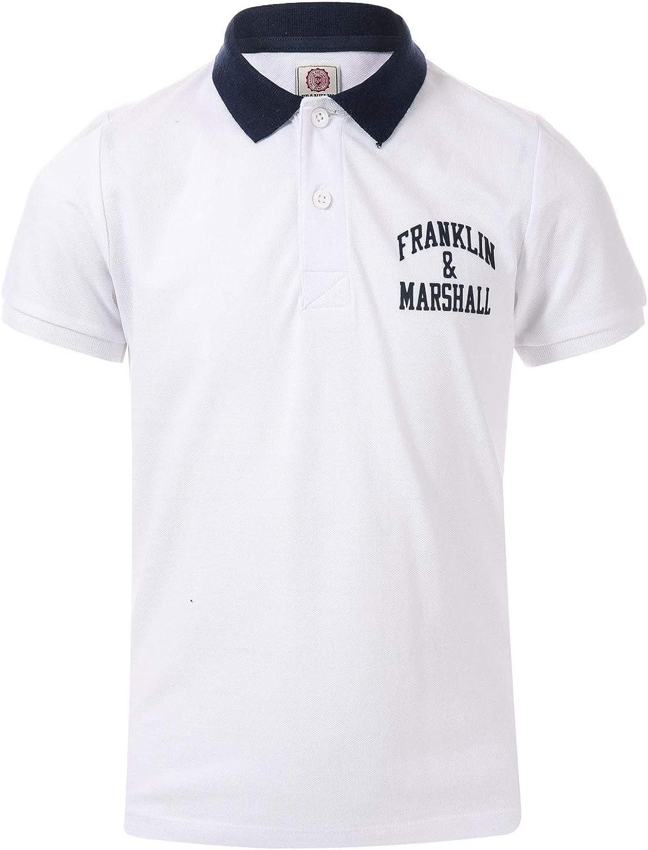 Franklin and Marshall Boys Core Logo Polo Shirt 7-8 White