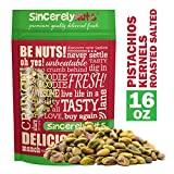 Sincerely Nuts Pistachios Roasted and Salted Kernels (Meats) No Shell - 1 Lb. Bag - | Healthy Snack Food | Great for Cooking | Source of Fiber & Protein | Gourmet Flavor | Vegan, Kosher & Gluten Free