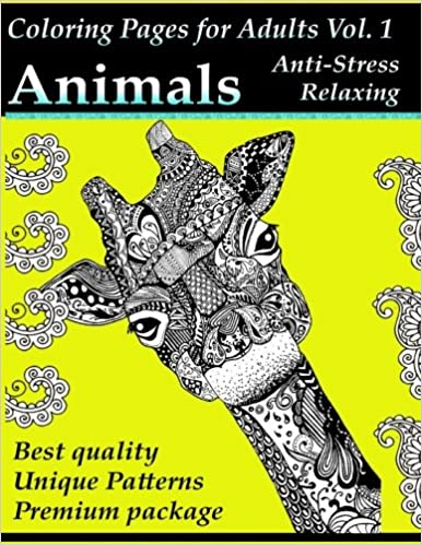 Coloring Pages for Adults: Animals: Anti-Stress and Relaxing ...