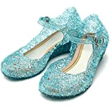 Katara ES10 Scarpe Tacco Principessa Elsa Cenerentola Bambine Costumi Carnevale Halloween EU 26 (16,2cm) - blu
