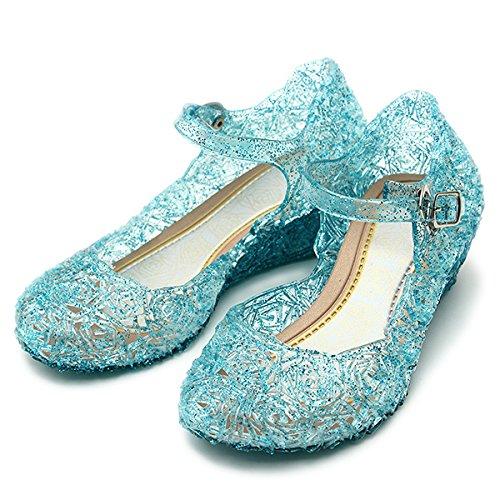 Princess Elsa, Cinderella High-Heeled Shoes for girls and children costumes (11.5 M US Little Kid (Label (Cinderella Shoes Kids)
