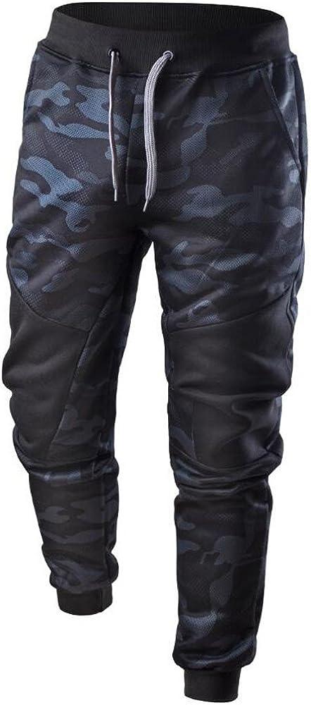 GREFER-Men Sweatpant Spring Casual Patchwork Camo Pants