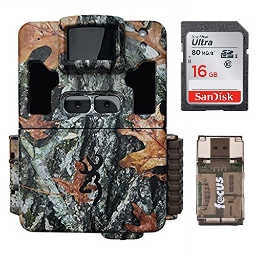 Browning Dark Ops Pro XD Dual Lens 24MP 1080p Trail Camera with 16GB SD Card and Memory Card Reader