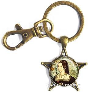 Tudor Rose Keychain Tudor Keychain Tudor Jewelry Tudor Keychain Queen of England,Best Friend Keychain,Simple Keychain,Everyday Keychain,Gorgeous Keychain,ot77