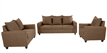 Space Interior 3 2 1 Seater Architectural Solid Wooden Sofa Set