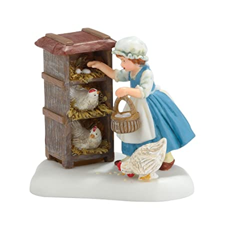 Department 56 Williamsburg Village Gathering Eggs Village Accessory, 2.125 inch