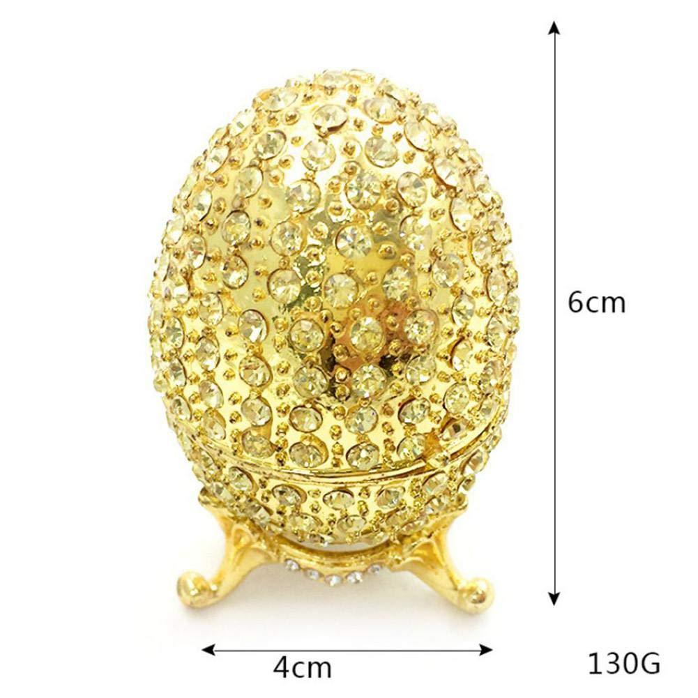 E E QueenHome Oeuf de p/âques /Œufs de P/âques dor/és en Forme d/'/œuf Plein de Diamants Faberge Artisanat Cr/éatif Ornements D/écoration de La Maison pour P/âques D/écor /À La Maison