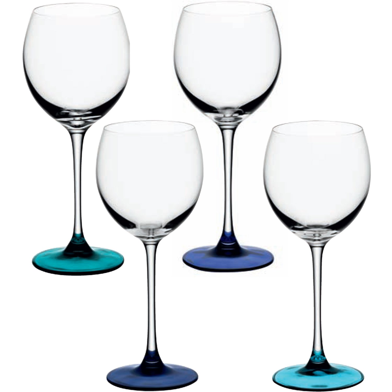 LSA Coro Verres à Vin Lot de 4 verres Lagon, 400 ml Assortis LSA International G932-14-714
