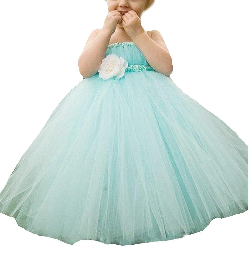 8bc59afa082 Amazon.com  BessDress Cinderella Tulle Flower Girl Dress Wedding Prom  Pageant BD130  Clothing