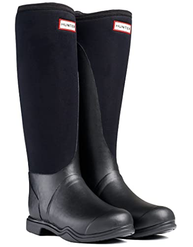 Hunter Balmoral Equestrian Neoprene Wellington Boots - Black - 9 ...