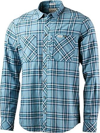 Lundhags jaksa LS – Camisa de trekking para hombre, Azul ...