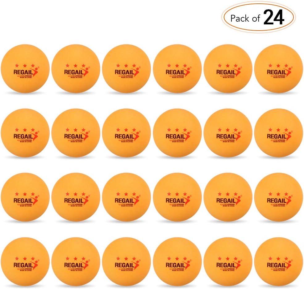 Lixada 24PCS 3-Star 40mm Pelotas de Tenis de Mesa Pelotas de Ping Pong Pelotas de Entrenamiento Avanzado para Aficionados
