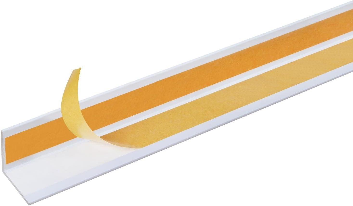Aluminium silberfarbig eloxiert GAH-Alberts 433536 Winkelprofil selbstklebend 1000 x 20 x 20 mm