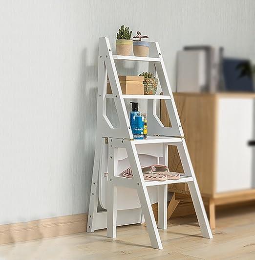 Taburete de madera maciza / Escalera alta de 4 escalones Taburetes ...
