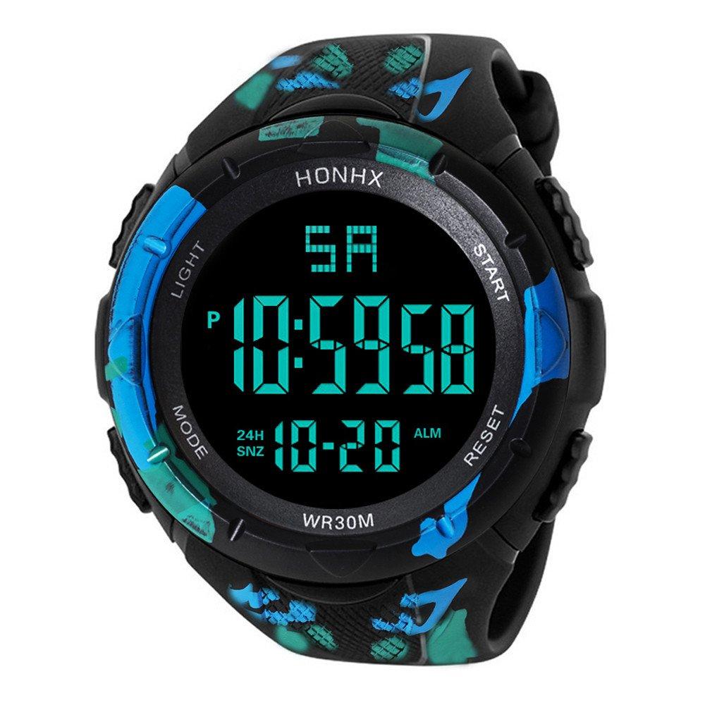 Yesmile Relojes❤️Reloj Electrónico de Silicona Hombres de Lujo Analógico Militar Digital Deporte LED Impermeable Reloj de Pulsera HONHX (A): Amazon.es: ...