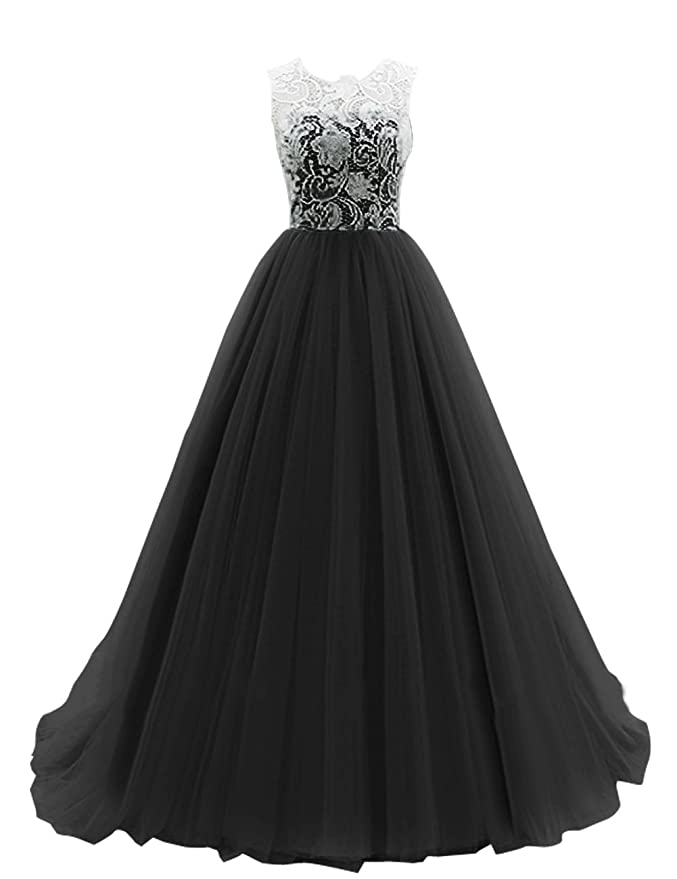 Amazon.com: DRESSTELLS Long Prom Dress Tulle Evening Dance ...