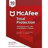 McAfee Total Protection 10 Antivírus – Programa premiado de proteção contra ameaças digitais, programas não desejados, multi
