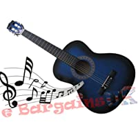 "3/4 Size 36"" Acoustic 6 String Guitar (Blue)"