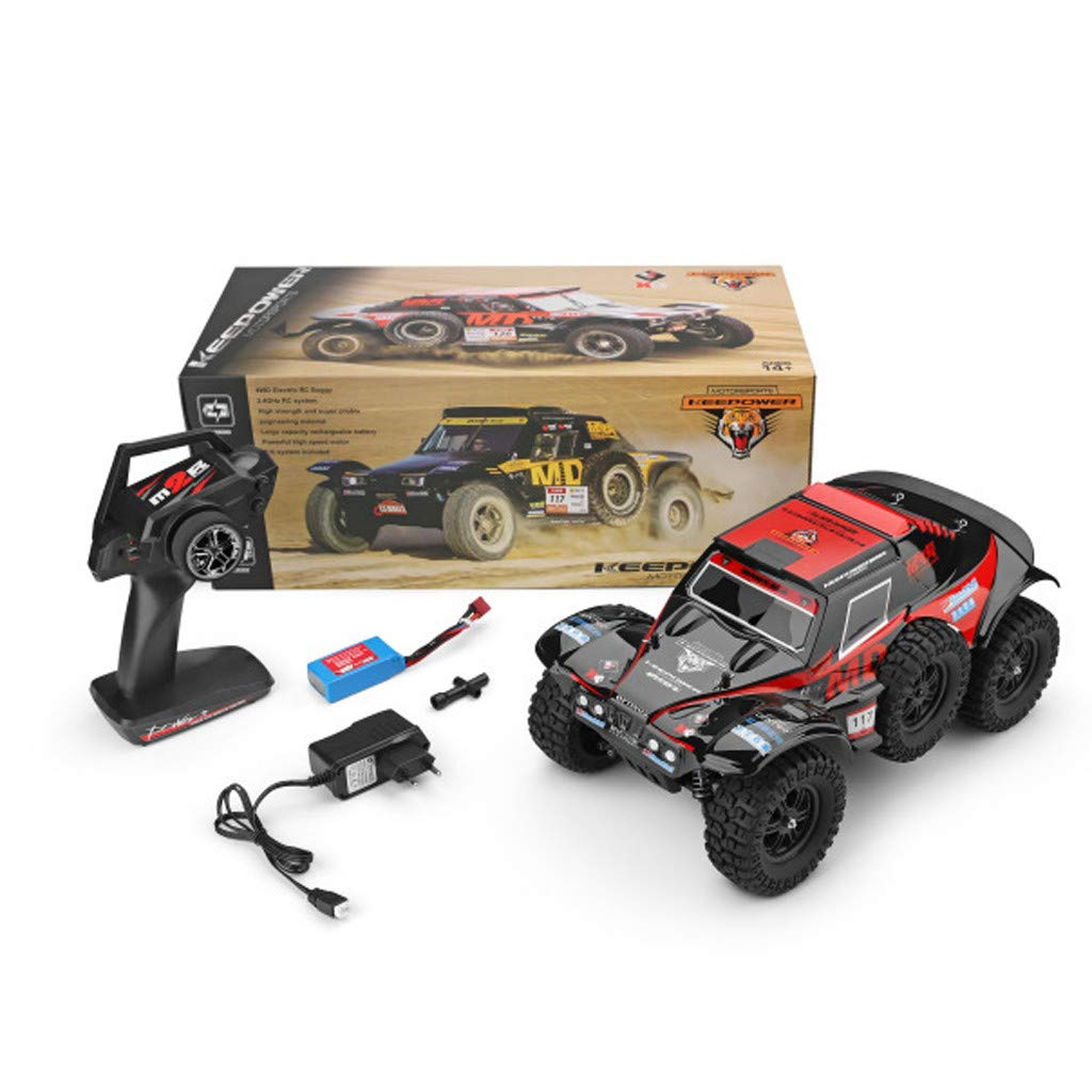 Hot  Wl 540 Brush Motor RC Off-Road Car 1:12 2.4G 4WD 60km/h High Speed Radio Remote Control Car Racing, RC Car Toys for Kids Age 8+ (red) by Hisoul (Image #2)