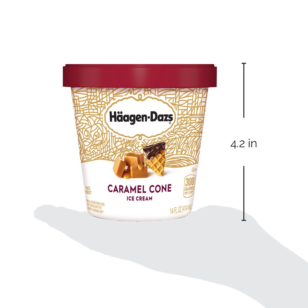 Haagen-Dazs, Caramel Cone Ice Cream 14 oz (Frozen): Amazon.com: Grocery & Gourmet Food