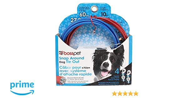 Boss Pet Q2515 000 99 10 Large Dog Snap Around Pdq Tie-Out