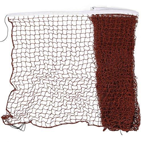 eDealMax Mesh Nylon tressé Badminton Formation Net 6M Longue Bourgogne Blanc