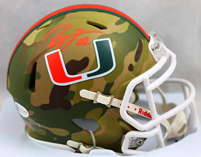Ray Lewis Signed Miami Hurricanes Full-Size Custom Matte