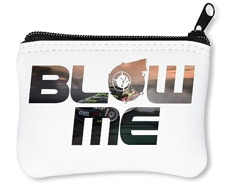 Blow Turbocharger Turbo Drift Go Sideways Cool Phrases Words Billetera con Cremallera Monedero Caratera
