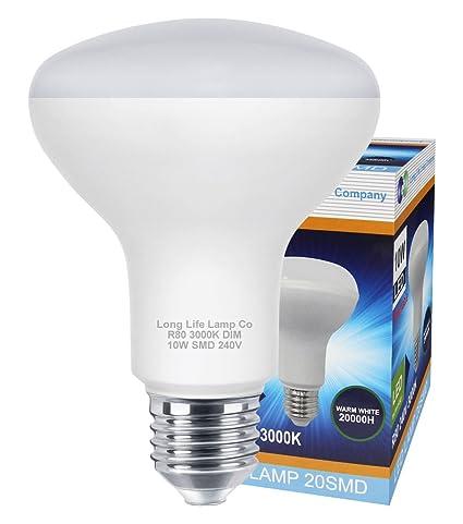 4 unidades R80 regulable LED 9 W E27 Replacment para Reflector R80 LED bombilla ahorro