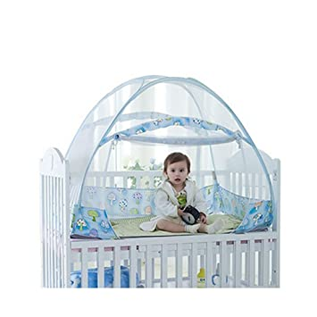 Amazon.com  Baby Crib Tent Safety Net Pop Up Canopy Cover - Foldable Baby Bed Mosquito Net Tent Kids Nursery Crib Canopy Netting (274737 Blue)  Baby  sc 1 st  Amazon.com & Amazon.com : Baby Crib Tent Safety Net Pop Up Canopy Cover ...