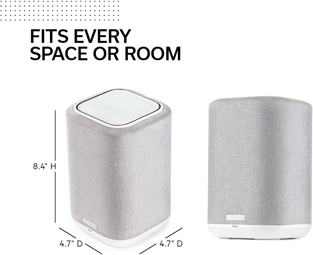 2020 Model | HEOS Built-in Denon Home 250 Wireless Speaker Alexa Compatible Stunning Design AirPlay 2 Black and Bluetooth