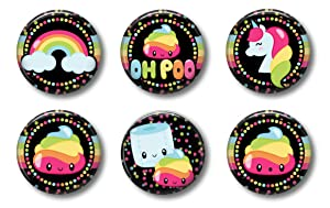 Cute Locker Magnets For Teens - Magical Unicorn Poop Magnets and Rainbows - Whiteboard Office or Fridge - Funny Magnet Gift Set (Mermaids #2)