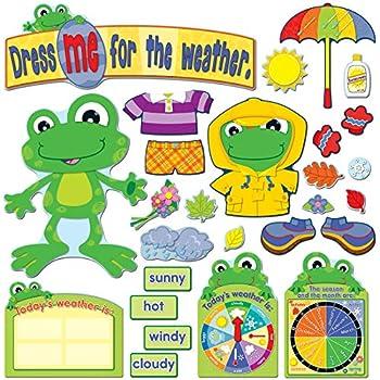 Amazon com : Carson Dellosa Weather Frog Bulletin Board Set