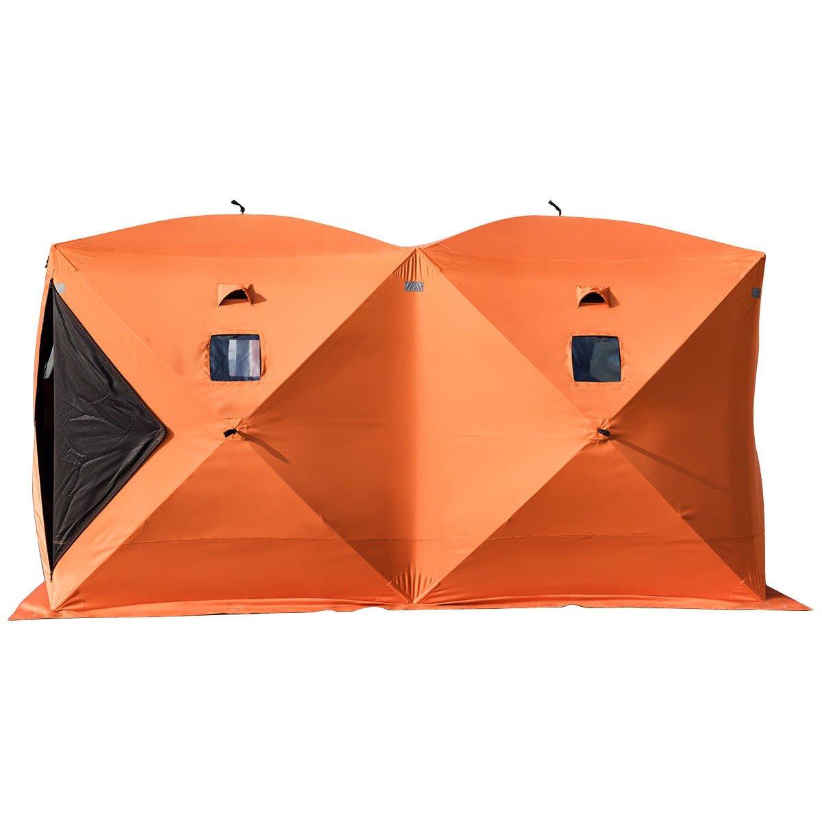Olibelle Tente de Pêche Abri de Plage Tente de Bivouac de Pêche Résistant au Froid Tente de Camping Hiver Outdoor