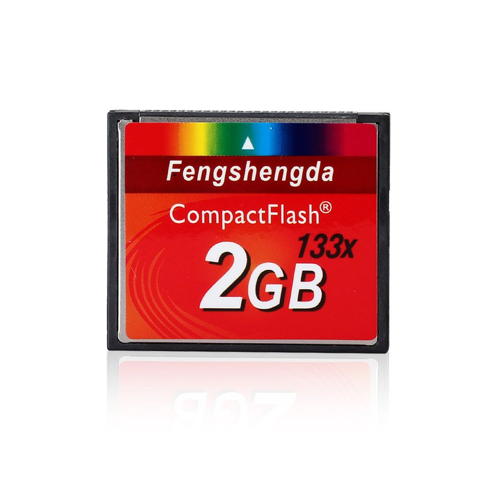 FengShengDa 2G Extreme Compact Flash Memory Card Speed Up To 80MB/s Frustration-Free Packaging SDCFHS-2G-AFFP