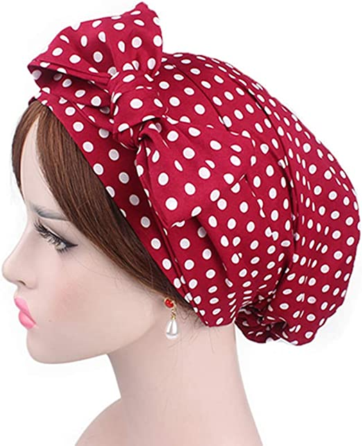Egurs Gorra con pañuelo en la Cabeza de algodón para Mujer Turban ...