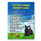 Scottish Terrier Property Laws Fridge Magnet