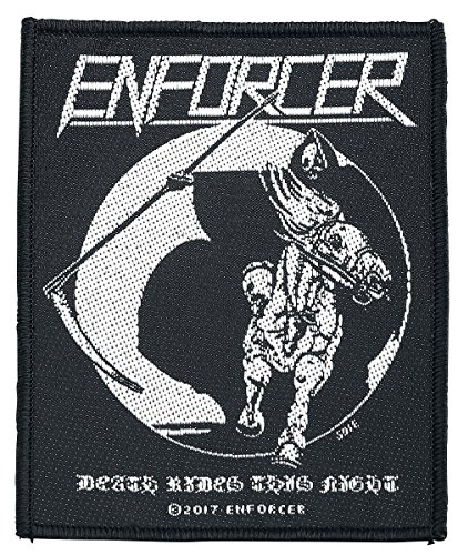 Enforcer Death Rides Patch Band Art Speed Metal Jacket Woven Sew On Applique