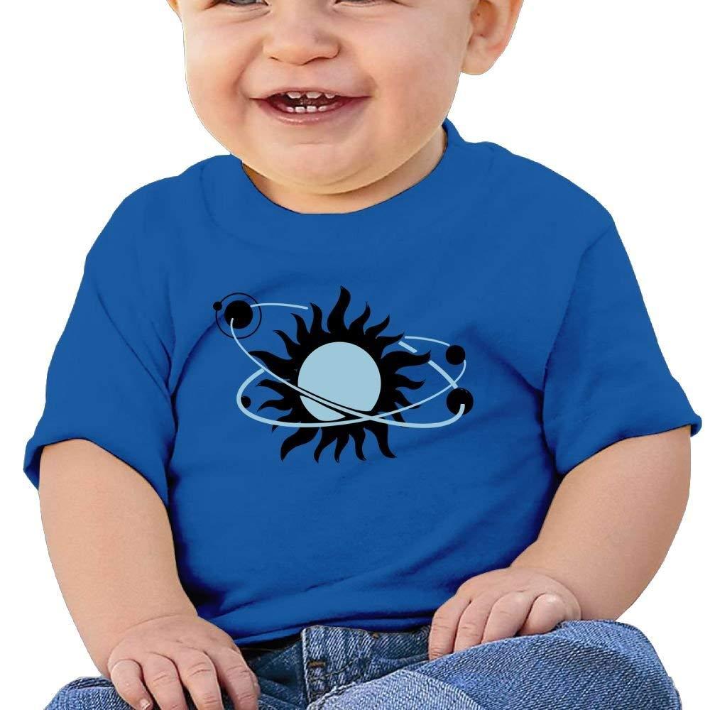 Cute Short-Sleeves Tshirts Planets System Sun Birthday Day Baby Boy Infant