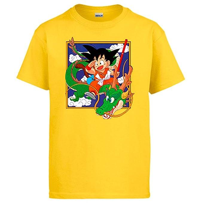 Camiseta Dragon Ball Goku con Shenlong Manga: Amazon.es: Ropa y accesorios