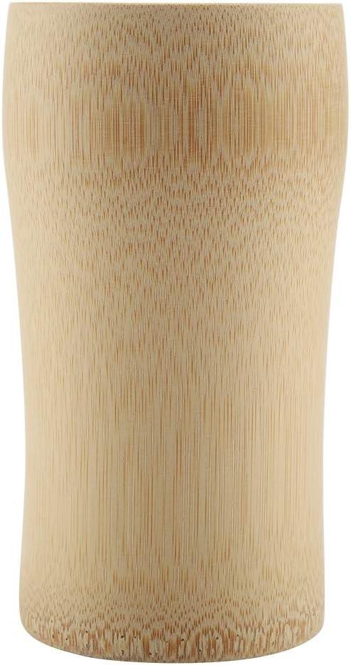Caddy de th/é en bois de bambou naturel Tasses /à boire Artisanat de gobelet /à vin de bi/ère Caddy de th/é en bois de bambou naturel