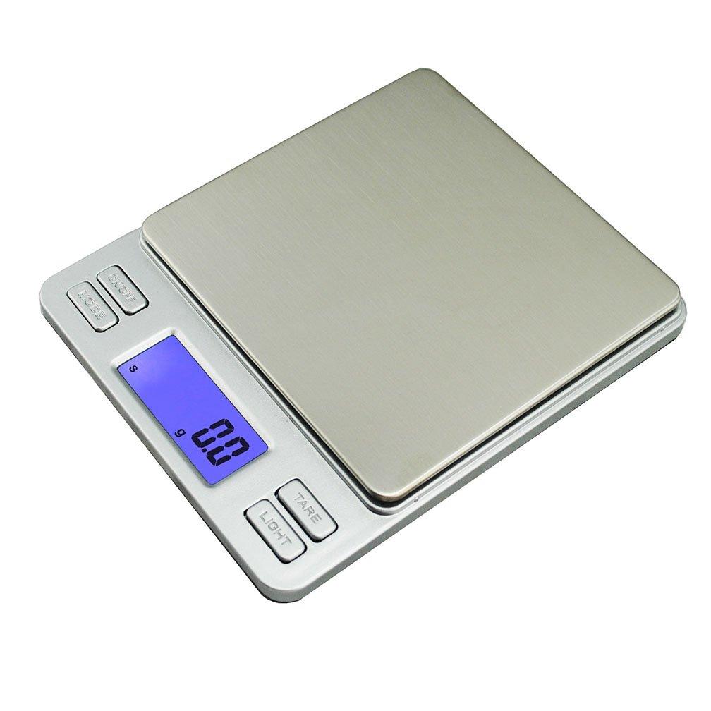 lerda pe Báscula de Cocina Digital 2 kg Básculas electrónicas Mini con Pantalla LCD, baterías operadas, Astilla: Amazon.es