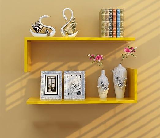 JTWJ Mampara Amarilla de Bricolaje, estantería de Pared con estantería de Almacenamiento.: Amazon.es: Hogar