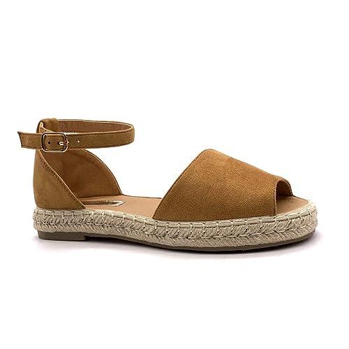 Sandalias Alla Angkorly Zapatos correa Alpargatas con de moda 8nOXN0ZwPk
