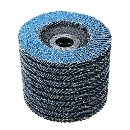 Nisorpa 125MM Premium Zirconia Oxide Flap Discs,50pcs Pack Industrial Abrasive Flap Discs Stainless Steel Sanding Discs 40 Grit Grinding Wheels Blades For Angle Grinder (Best Grinding Wheel For Stainless Steel)