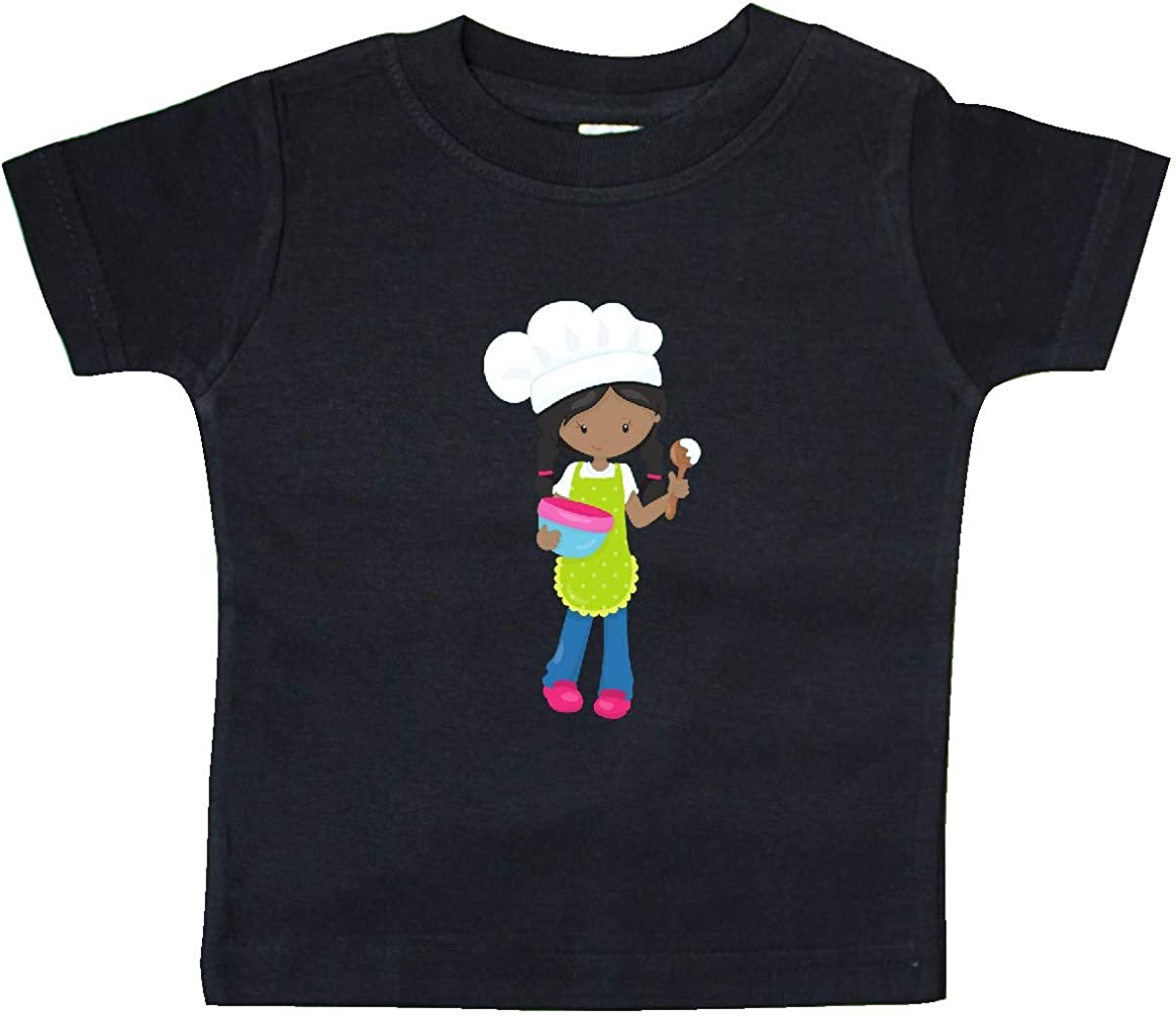 inktastic African American Girl Baking Girl with Braids Baby T-Shirt