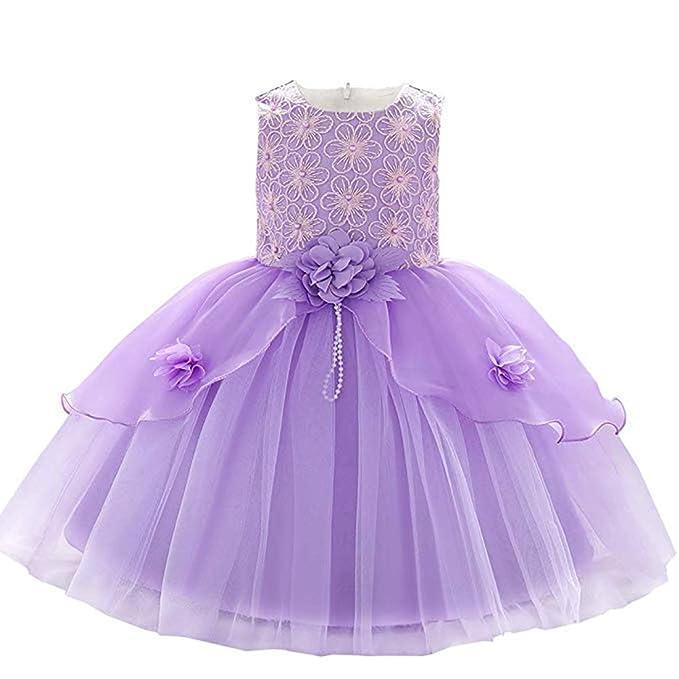 Amazon.com: ZaH Vestido de algodón para bebé, diseño de ...